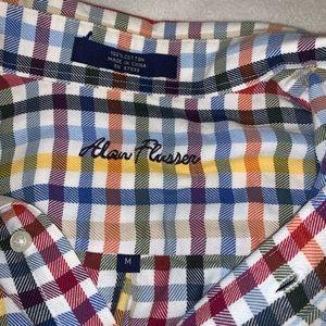 Alan Flusser Shirts - Alan Flusser Checkered Button Down Shirt Medium